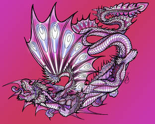 Song In The Sky 4  Dragon 2 Lineart By Rachael by triumf500