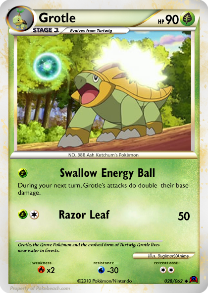 Pictures Of Grotle Pokemon Card Kidskunstinfo
