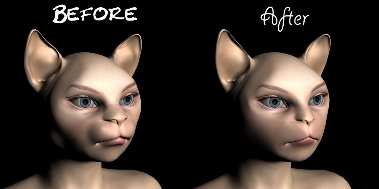 Refined Catgirl Morph by lupusquack
