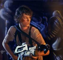 Aliens - Ellen Ripley by Ignis-vitae