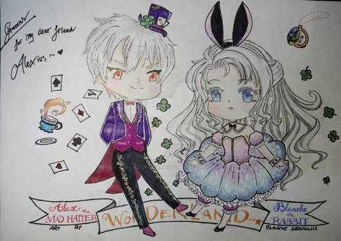 Alex and Blanche in Wonderland
