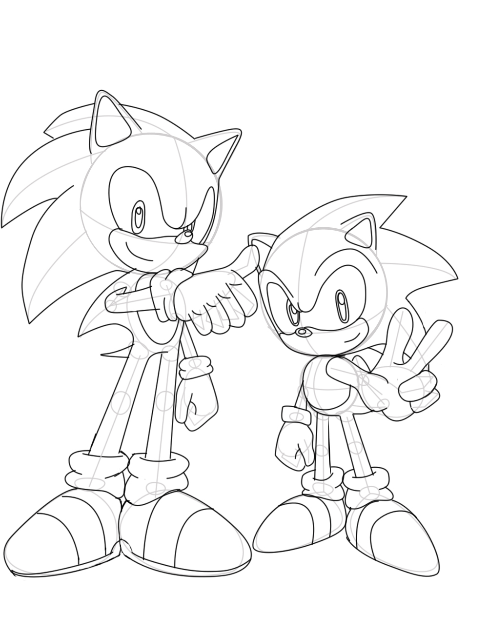 sonic generations lineart by sonicwindartist on deviantart