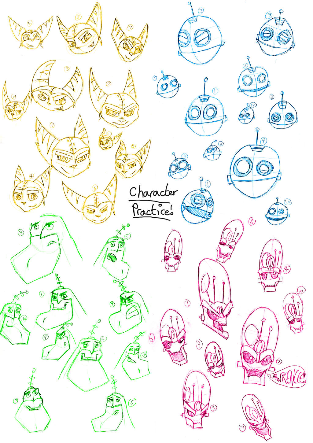 Character Design Practice : R c character design practice by sonicwindartist on