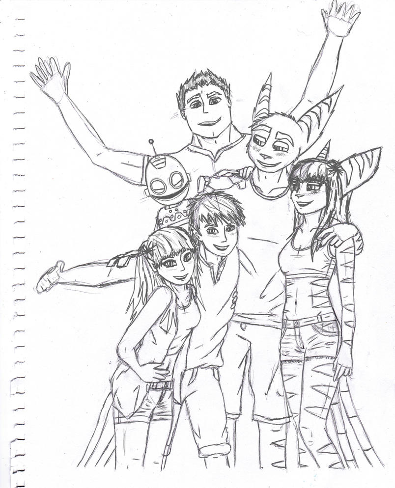 - Beach Party Group Sketch - by sonicwindartist