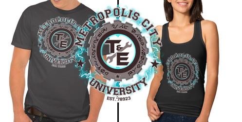 - Metropolis University Shirt Design -