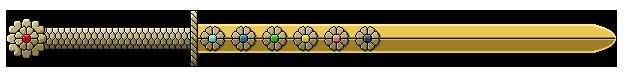 Sword of Golden Flowers by HarlequinHues