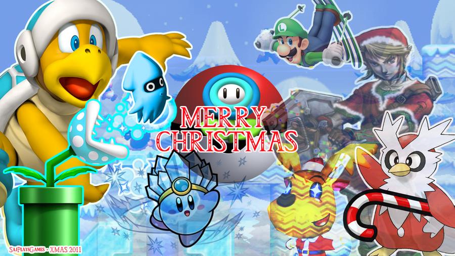 Nintendo Christmas Wallpaper by SajPlaysGames on DeviantArt