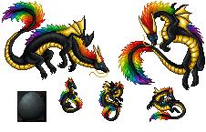 Apis Eastern Dragon Family - Gold by AshaGirl4Life