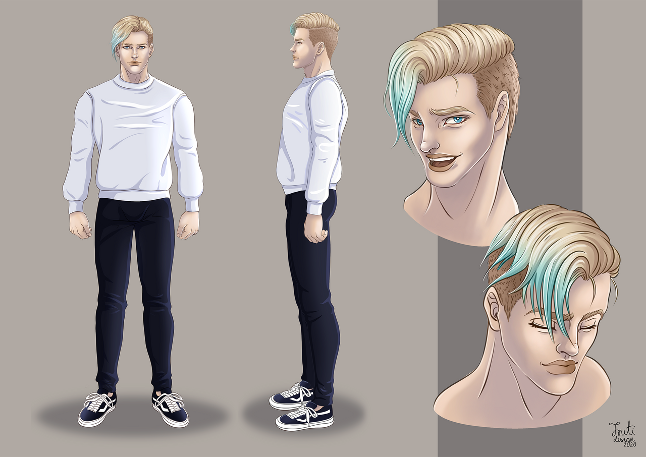 Justin Awesome character design