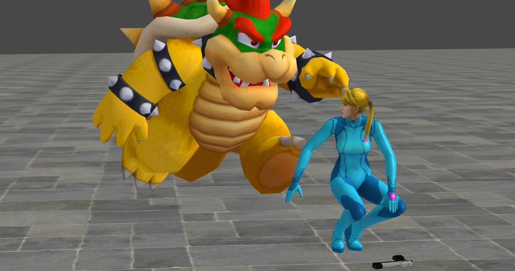 Metal Mario, Toad, and Zero Suit Samus Super Smash Bros ...  |Zero Suit Mario