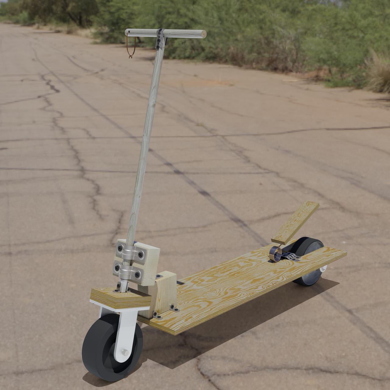 Plywood Scooter