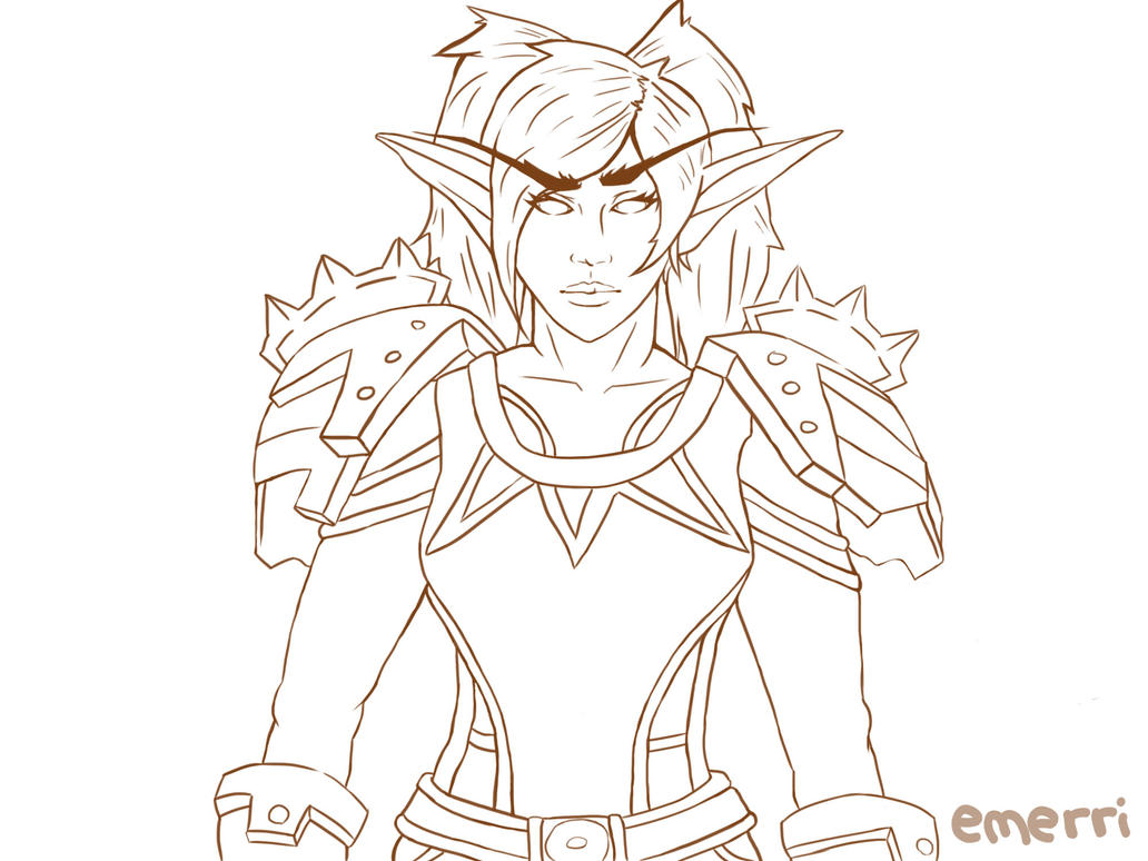 Line Art Character : Wow character line art by e smart on deviantart
