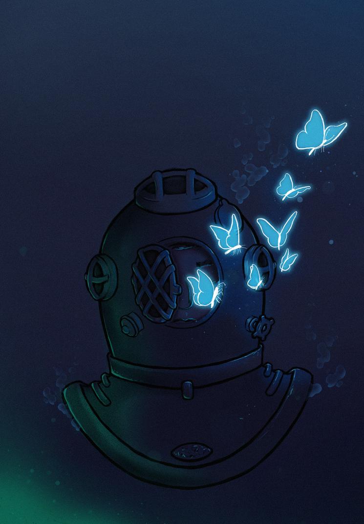 365 Challenge - #355: Le Scaphandre et le Papillon by DeviantJC