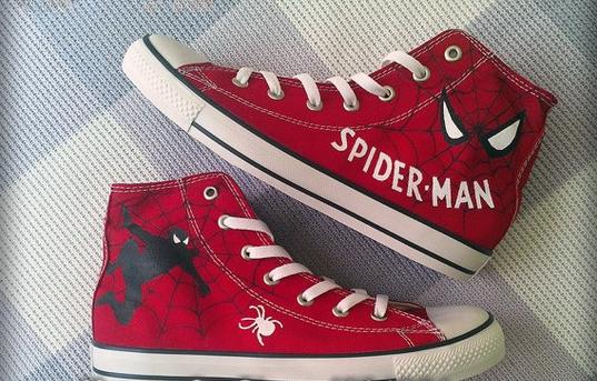 Spiderman Sneakers by Shadowalpaca