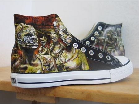 Silent Hill Handpainted sneakers by Shadowalpaca