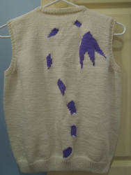 Gatomon motif knitted vest - back