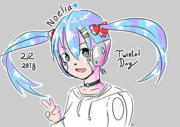 Twintail Day 2018 by azuretan
