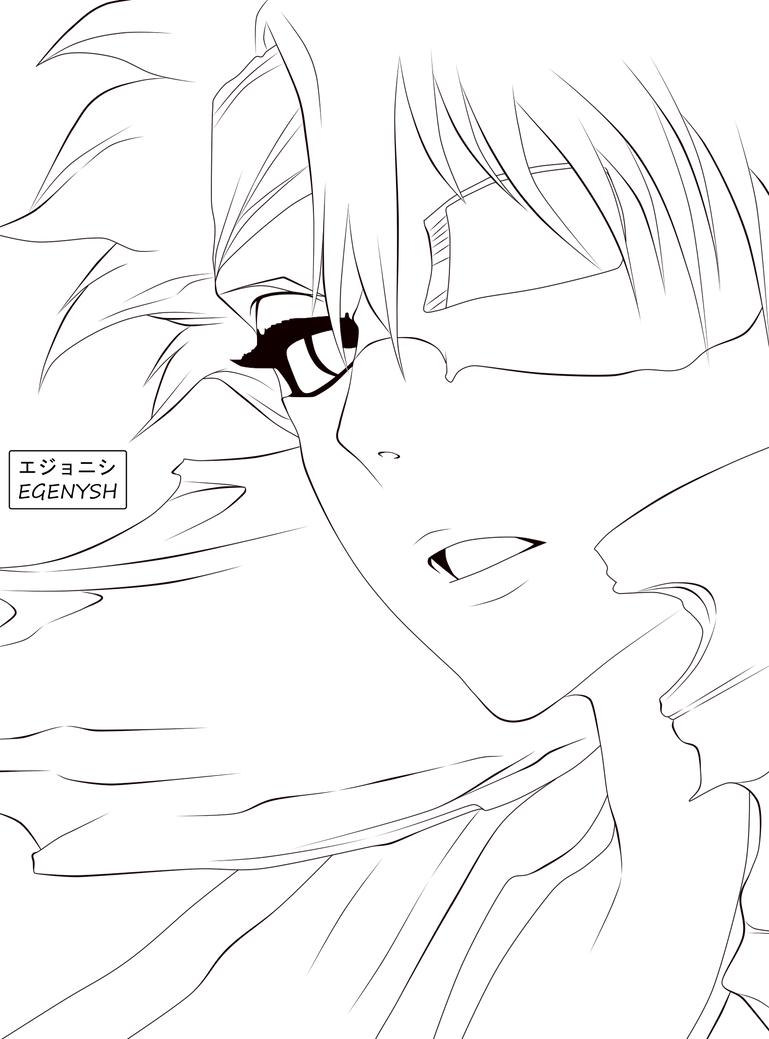 Toushiro half hollow by Egenysh-LineArt