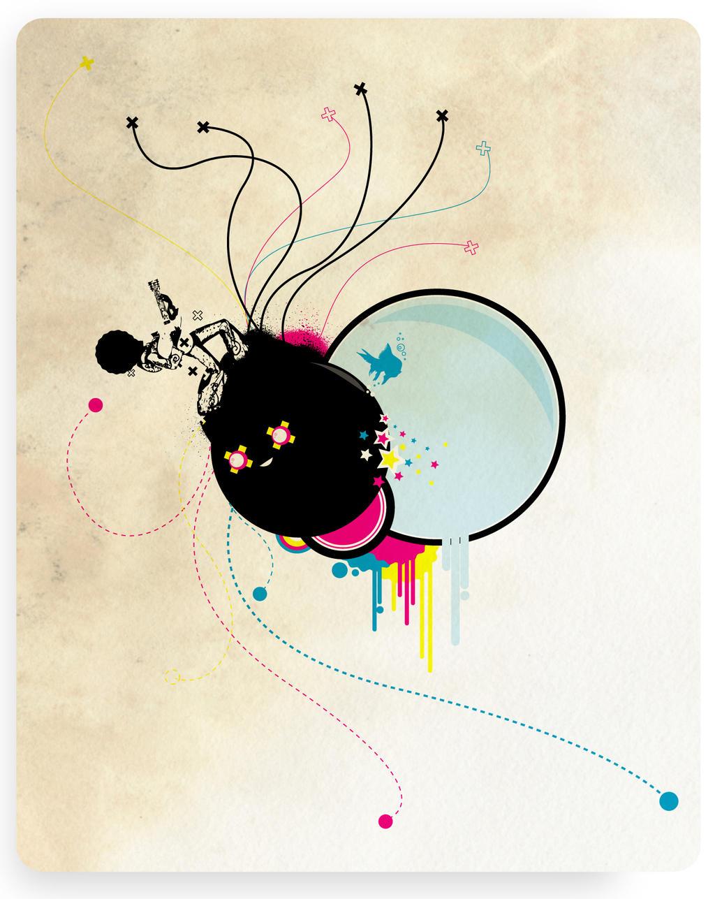 Psychedelic Bomb by cabezadecondor