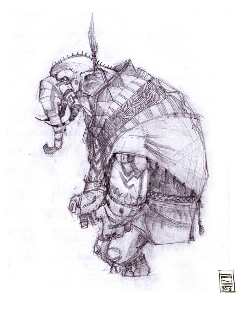Indian elephant drawing tumblr