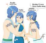 Hetalia. The Ocean siblings
