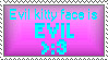 Evil kitty face stamp by Droidigan