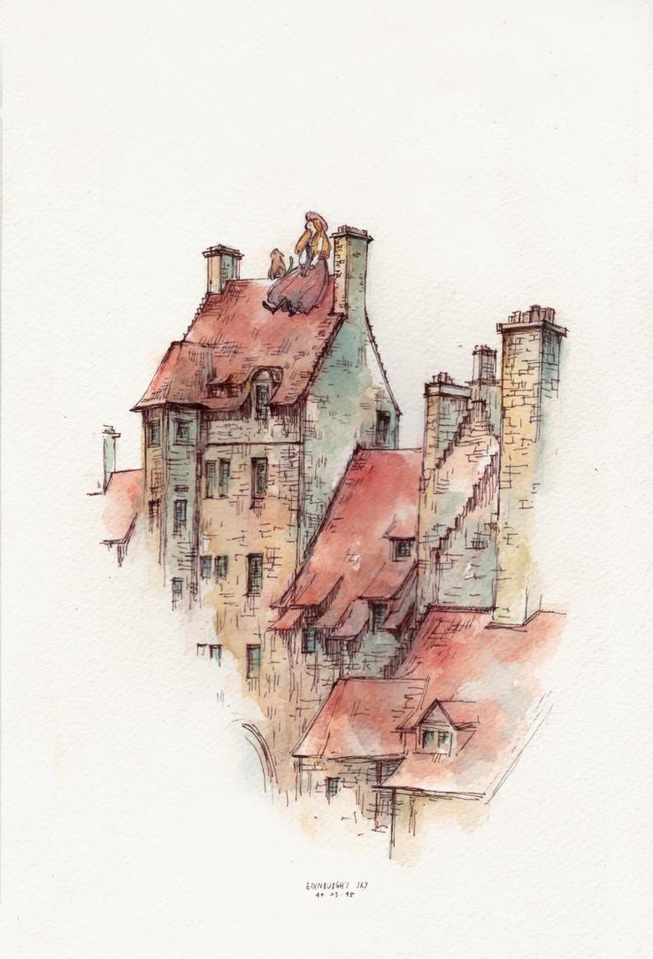 Edinburgh's Sky by sherrae78