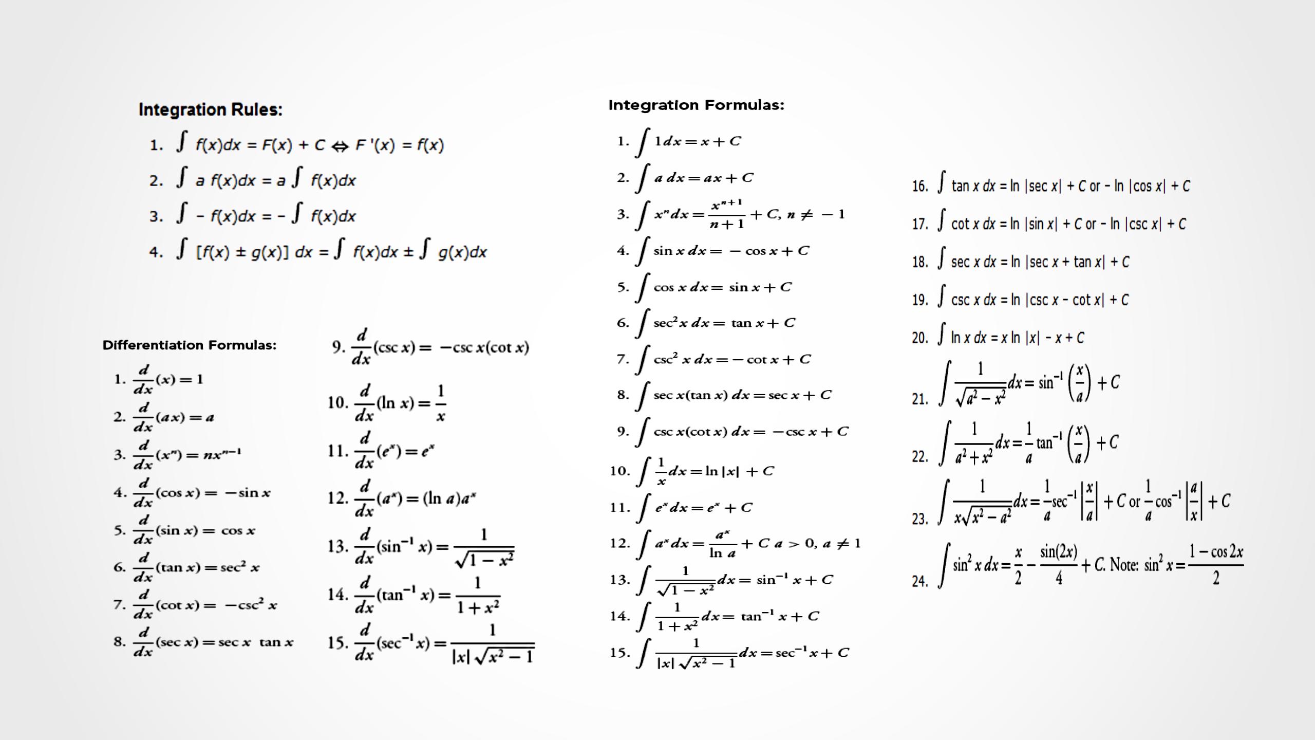 differentiation formulas - photo #26