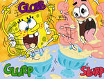 Spongebob Patrick by L3tt3rs