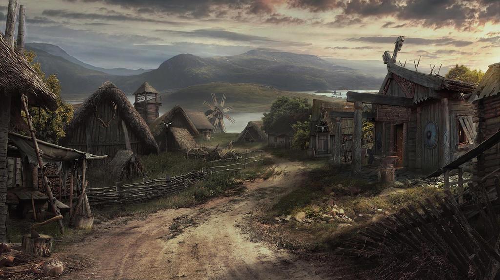 Viking Village by Drake1024
