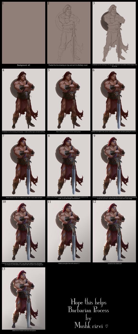 Barbarian process by T-razz