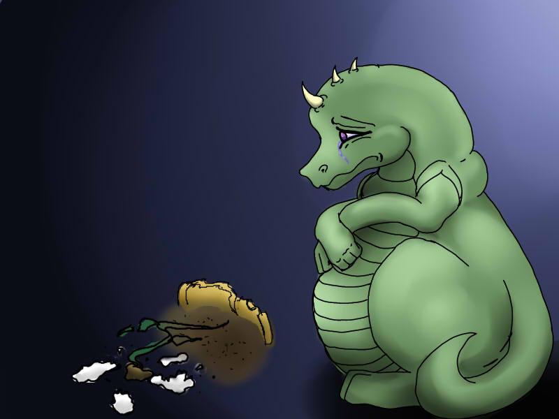 Sad dragon is Sad by Himesatou on DeviantArt