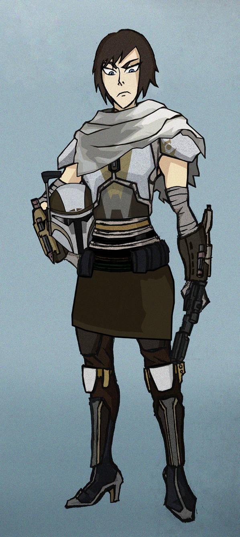 Mandalorian Tarra Strayver - armor concept by Demarishia