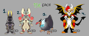 quick little adopts! (open 3/4)