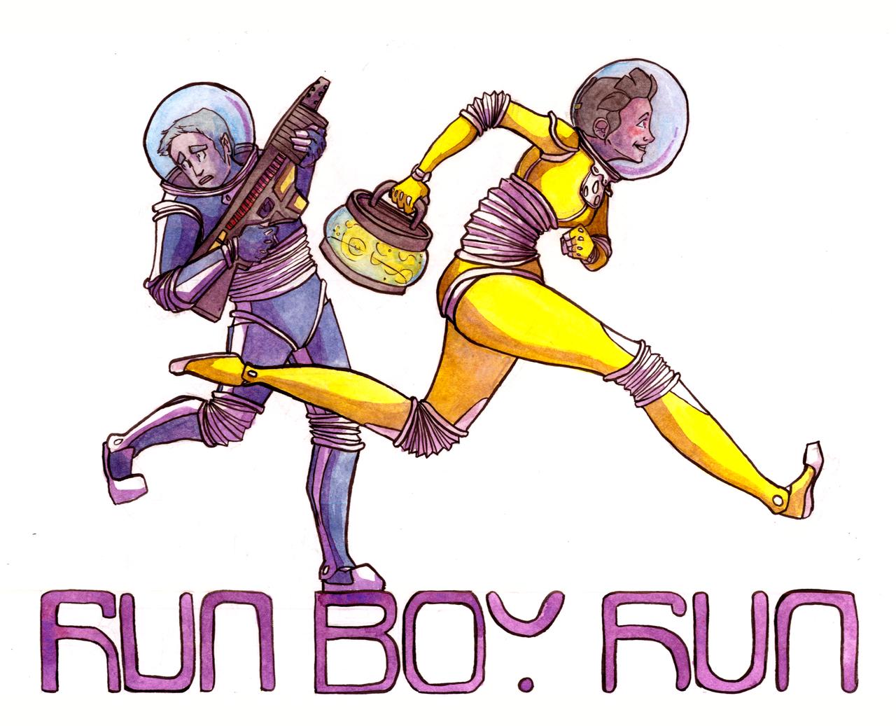 Run Boy Run by Aileen-Kailum