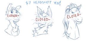 $7 YCH Headshots CLOSED