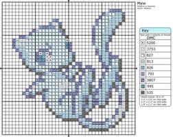 Shiny Mew Cross Stitch Pattern by makibird