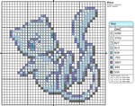 Shiny Mew Cross Stitch Pattern