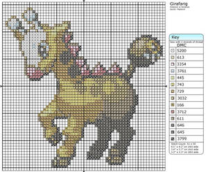 Girafarig Cross Stitch Pattern