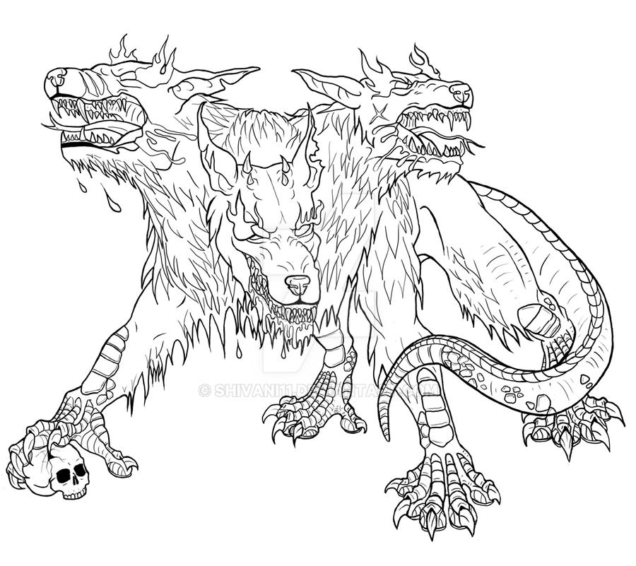 Hellhound Coloring Pages