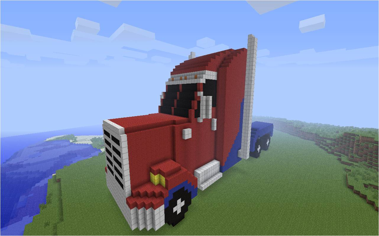 Transformers Prime Optimus in Minecraft by NumairSalmalin