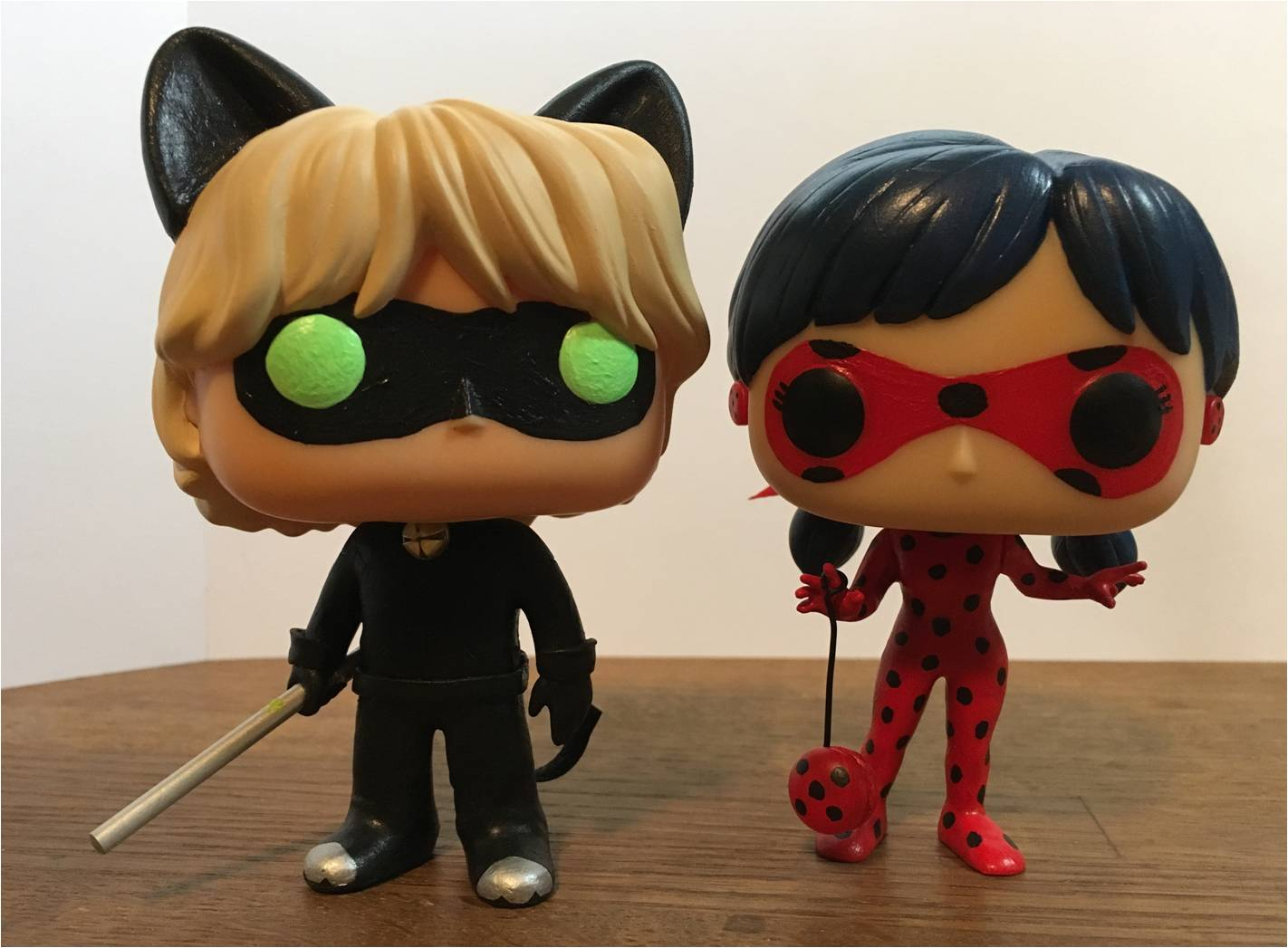Cool Bug Toys : Miraculous ladybug and cat noir custom funko pop by