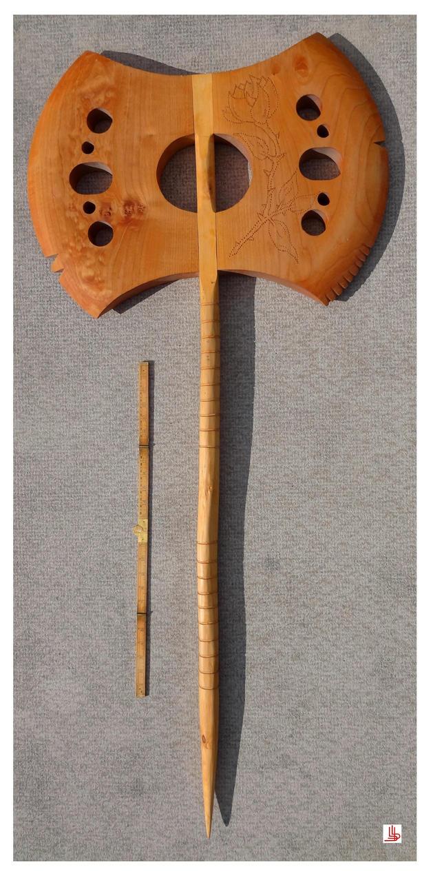 Battle axe by Obsidian-Asphodel