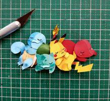 pokemon in Paper Cutting by RaphaelOda