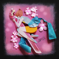 Pearl in Cut Paper by RaphaelOda