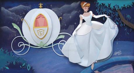 Cinderella In paper Art