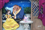 Belle and Beast in Paper Art