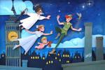 Peter Pan Fly Paperart