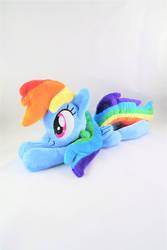 13 Inch Rainbow Dash Beanie by KazzysPlushEmporium