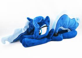 13 Inch Princess Luna Beanie (baby blue mane) by KazzysPlushEmporium